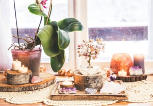 Feng,Shui,Nature,Theme,Altar,At,Home,Table,And,On